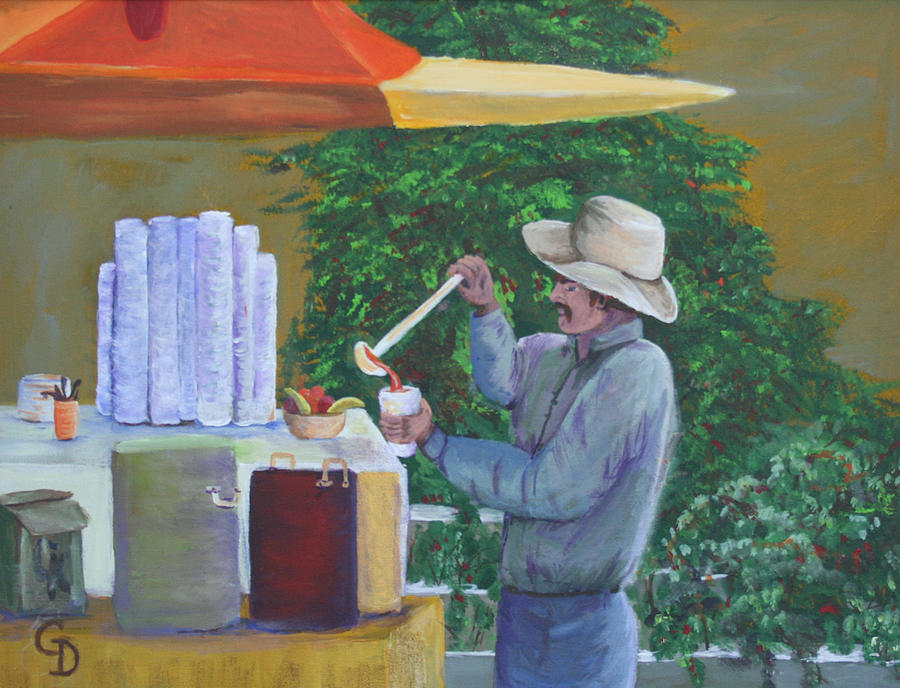 Street Vendor by Gail Daley