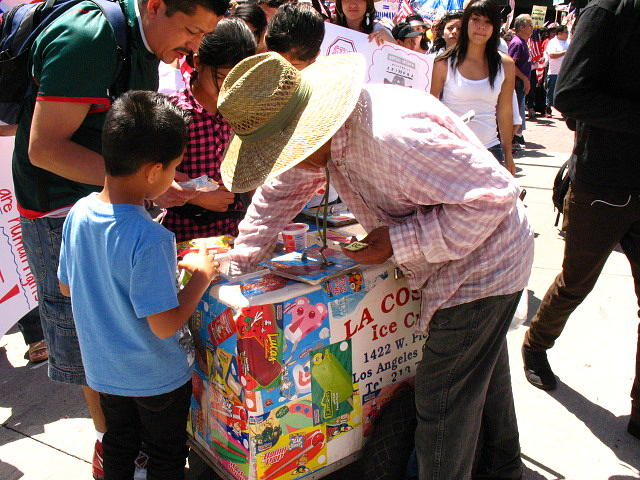 Mexican Digital Art - Street Vendors In Los Angeles by Chris Pyrenean