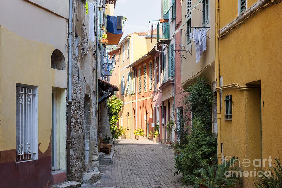 Villefranche-sur-mer Photograph - Street With Sunshine In Villefranche-sur-mer by Elena Elisseeva