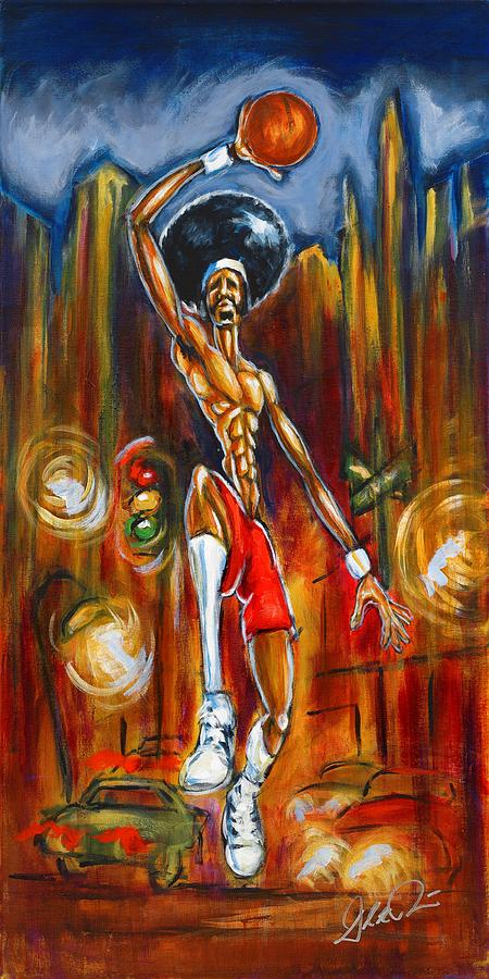 Basketball Player Painting - Streetball by Daryl Price