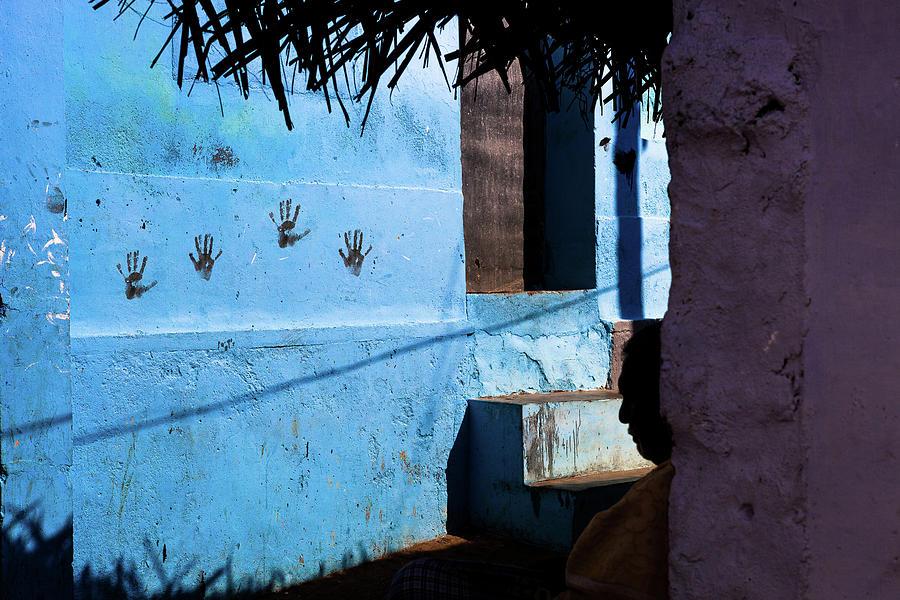 India Photograph - Streetcorner, Kanyakumari by Marji Lang