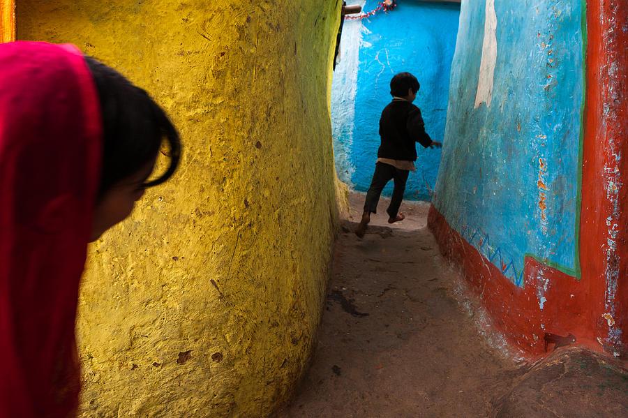 Delhi Photograph - Streetcorner by Marji Lang