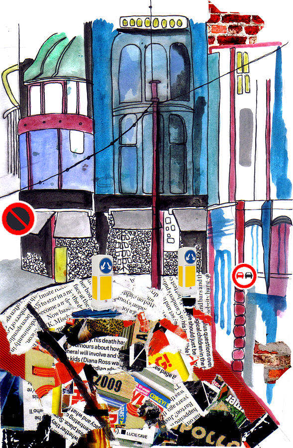 Buildings Painting - Streets 1 by Nicola-Jayne Seddon