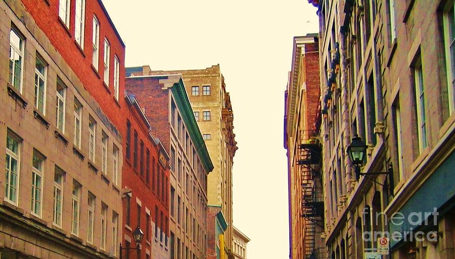 Buildings Photograph - Streets Of Montreal by Reb Frost