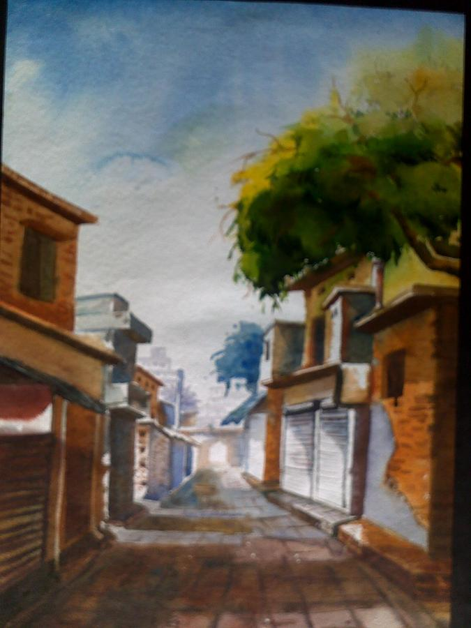 Streets Of Old Lucknow Painting by Renu  Shahi