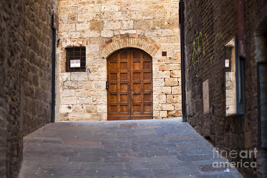 Ancient Photograph - Streets Of San Gimignano by Andre Goncalves