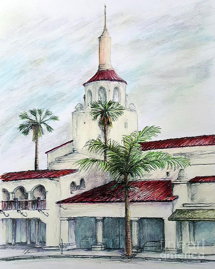 Streets of Santa Barbara- Arlington Theater Santa Barbara by Danuta Bennett