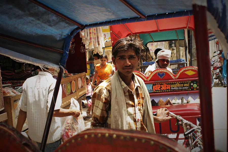 Street Photograph - Streets of Vrindavan by Karan Anand