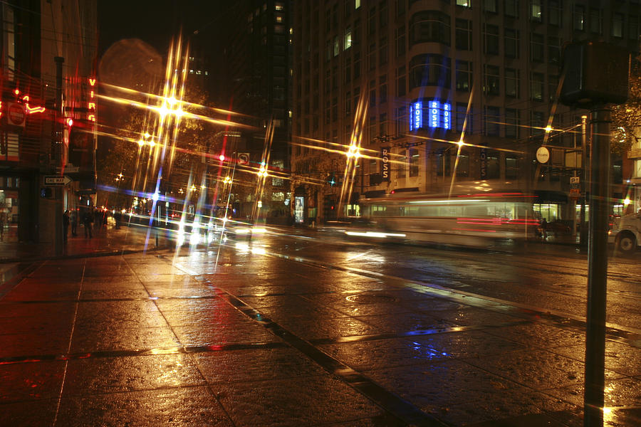 Night Photograph - Streets by Wes Shinn