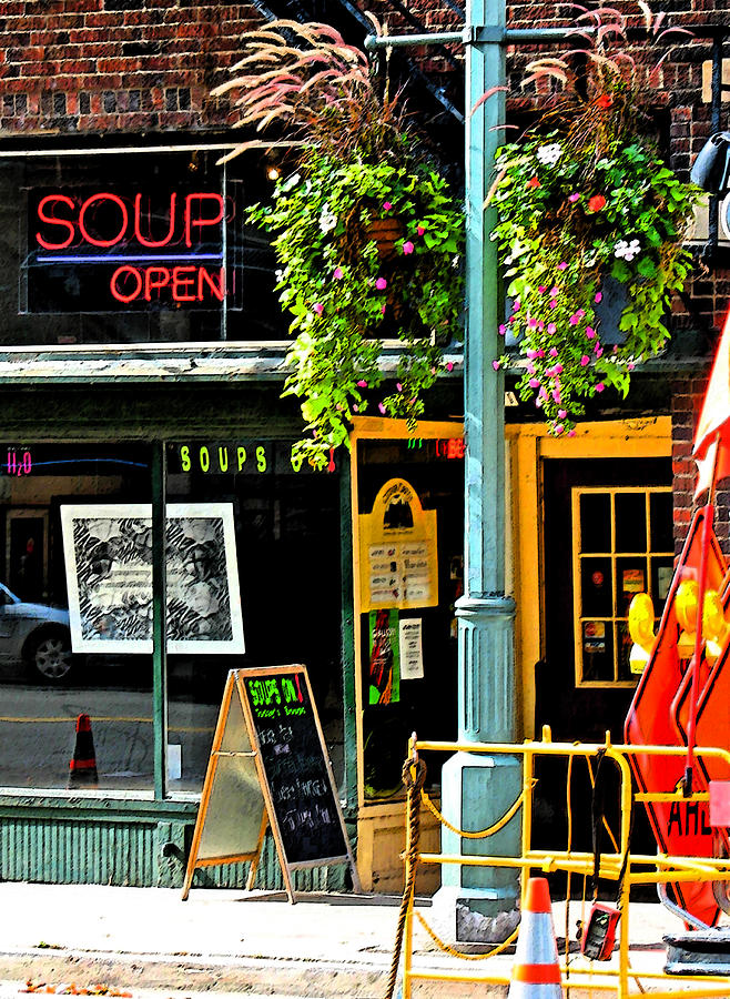 Urban Photograph - Streetscape 1 Soup by Gary Everson