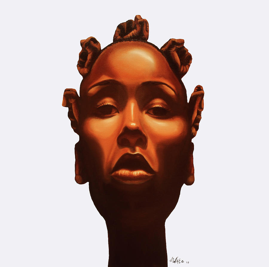 Black Painting - Strength in my crown by Jerome White