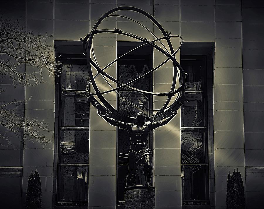 New York Photograph - Strength Of Atlas by Jeff Watts