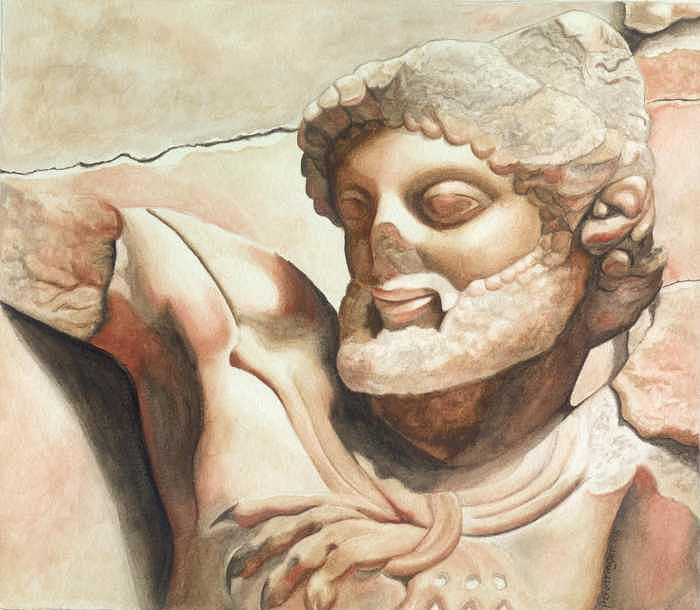 Greek Mythology Painting - Strength Of Heracles by Patti Gettinger