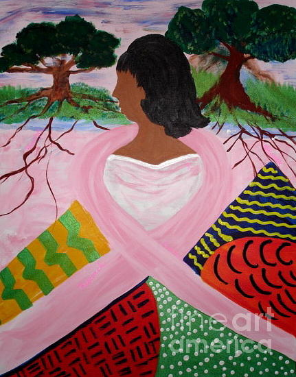 Women Painting - Strength of Our Roots by Sheila J Hall
