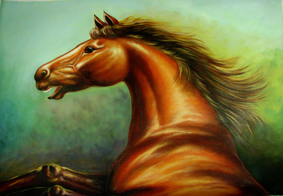 Horse Painting - Strength by Yuki Othsuka