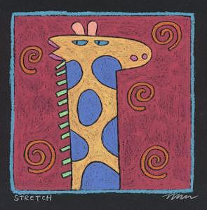Stretch Painting by Nancy  Coffelt