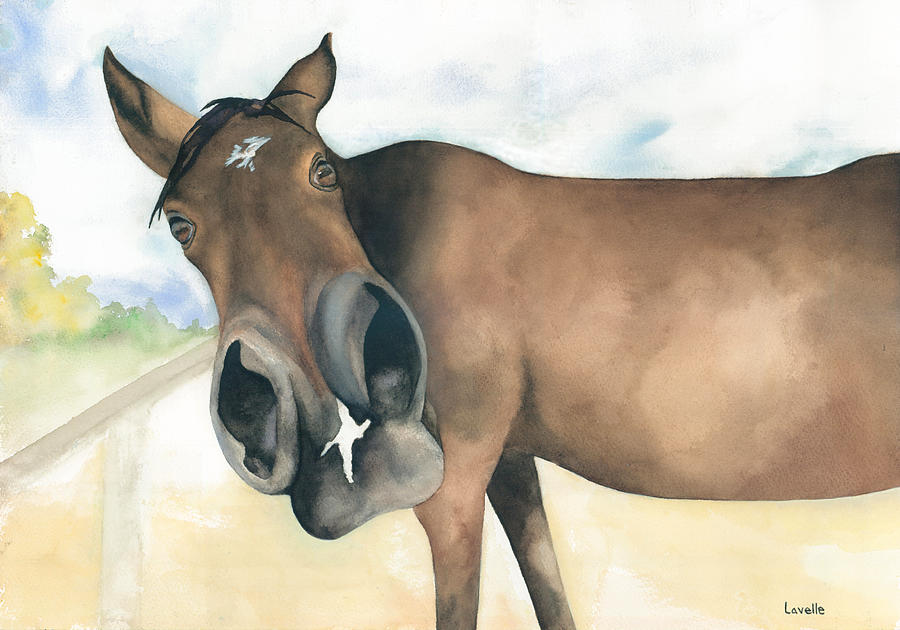 Horses Painting - Stretch...your Perspective by Kimberly Lavelle