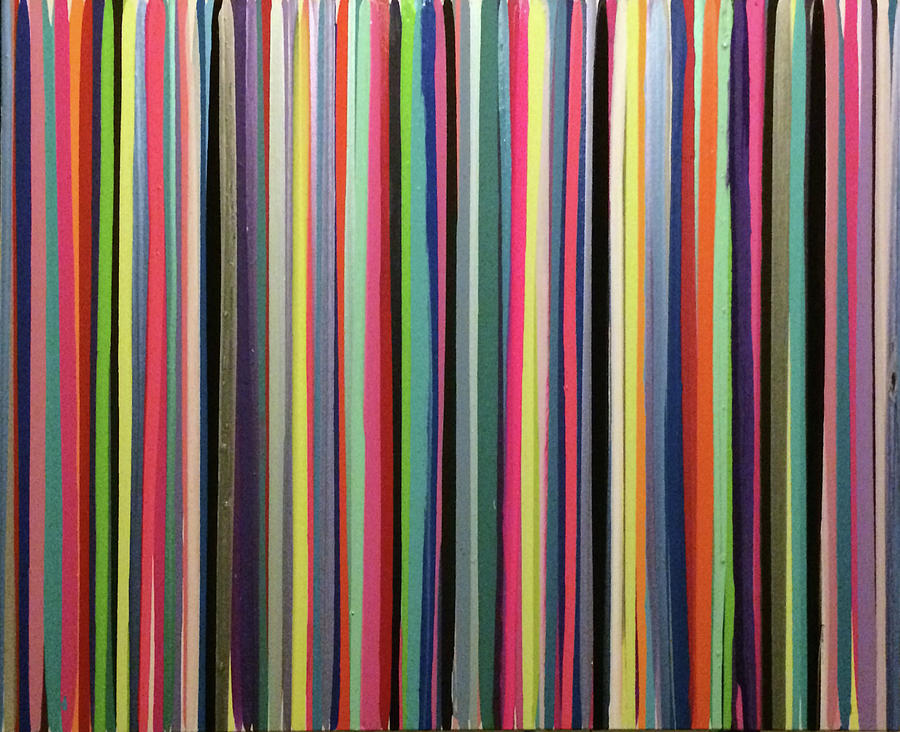 Rainbow Painting - Striations Multi by Margalit Romano