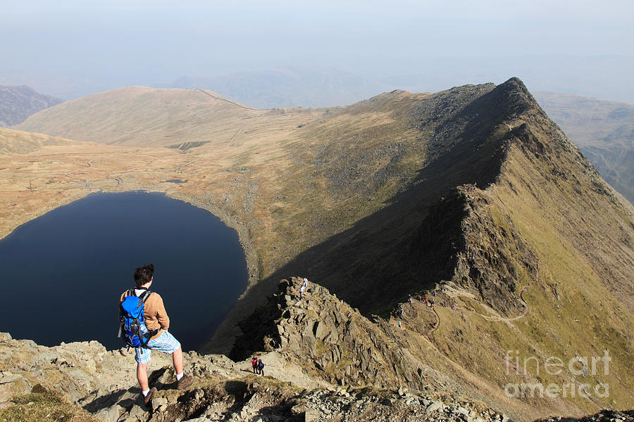 Striding Edge from Helvellyn by Bryan Attewell