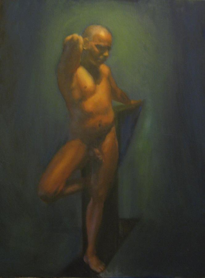 Male Nude Painting Painting - Striking A Pose by Christian Lee