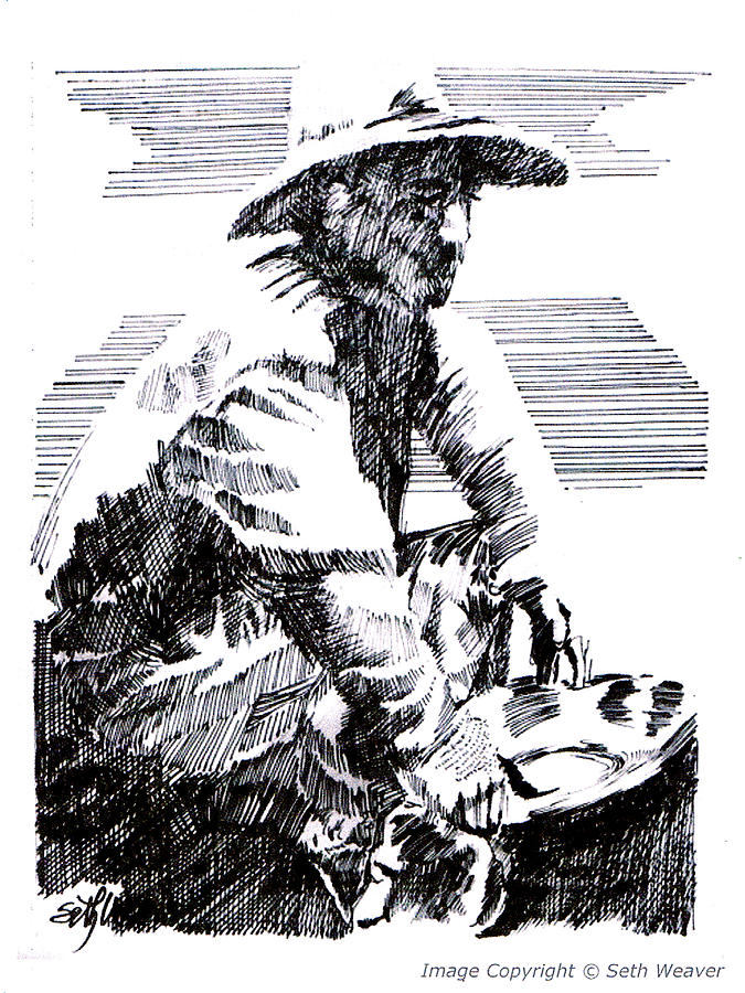 Gold Miner Drawing - Striking It Rich by Seth Weaver