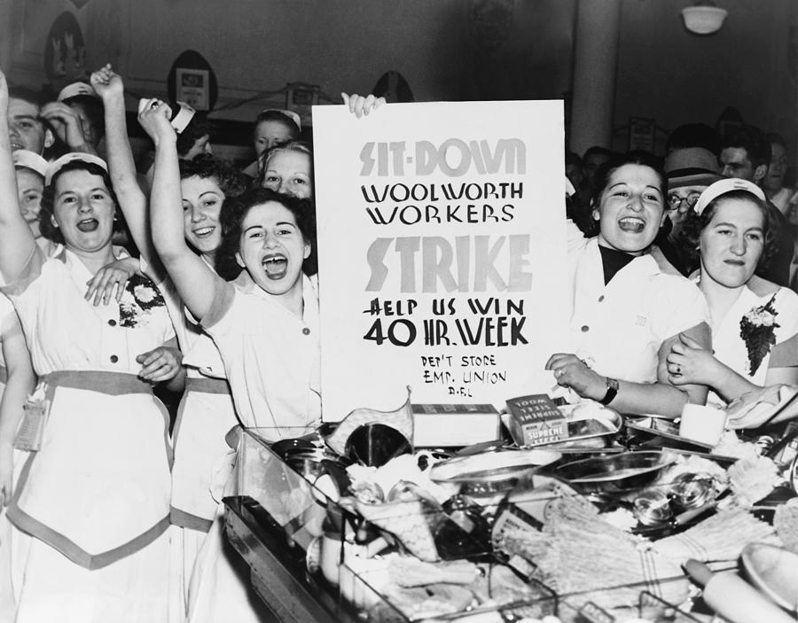 History Photograph - Striking Women Employees Of Woolworths by Everett