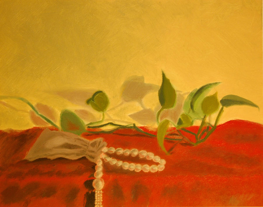 Still Life Painting - String Of Pearls by Krishnamurthy S