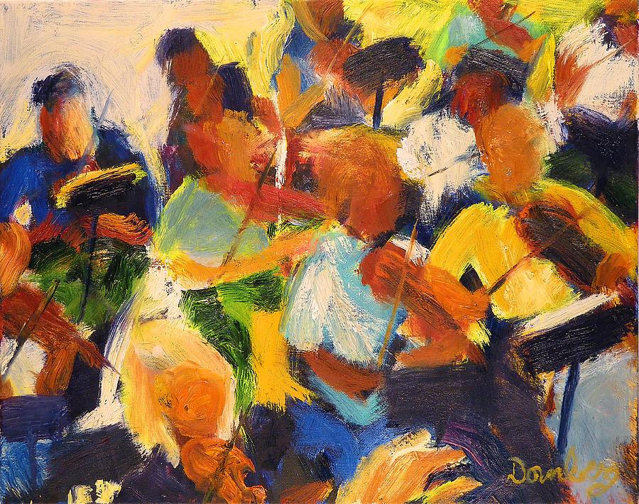 Music Painting - String Section by Bob Dornberg