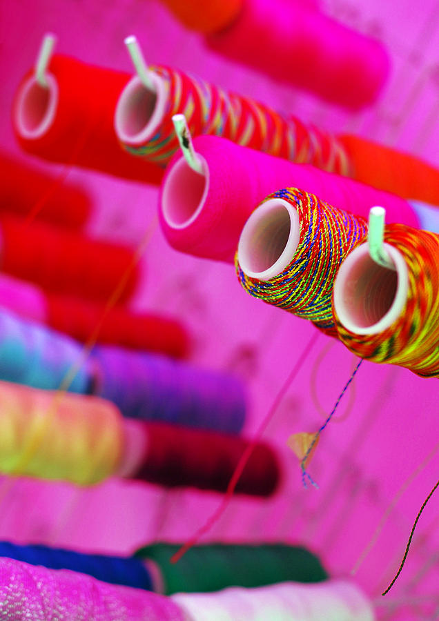 Color Photograph - String Theory by Skip Hunt