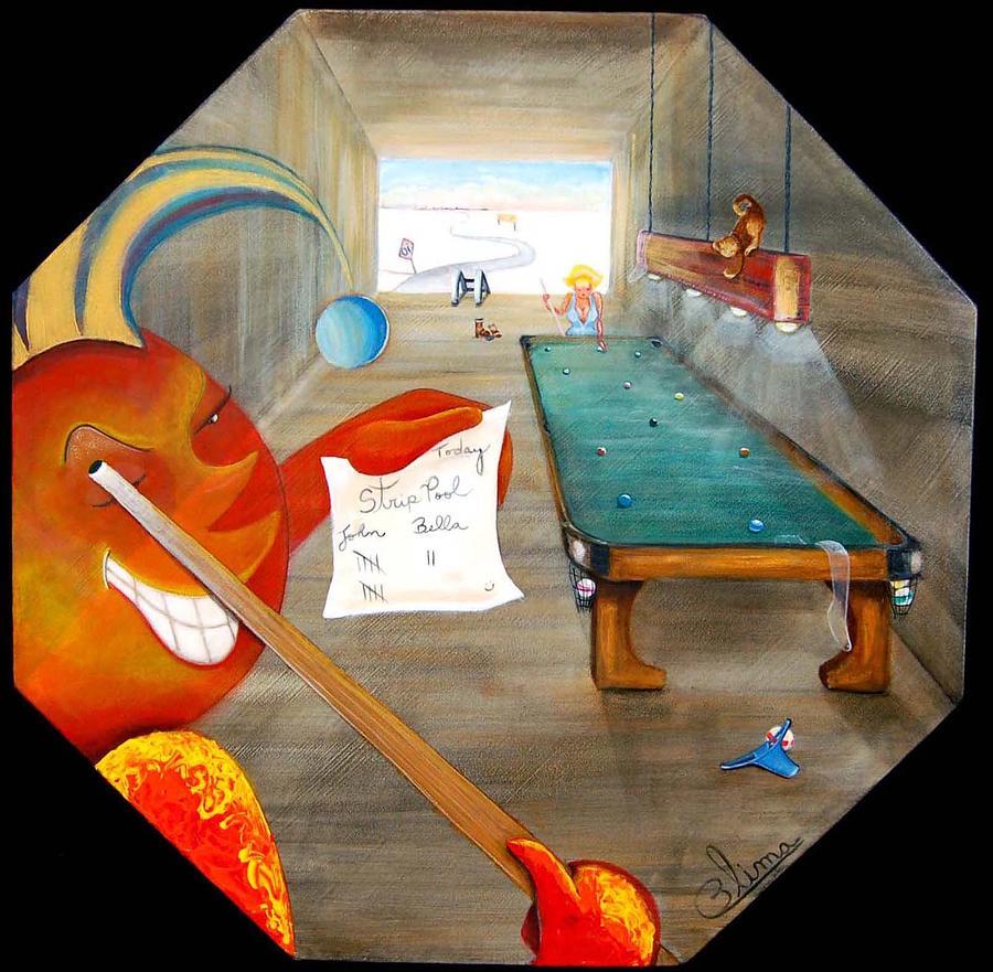 Fantasy Painting - Strip Pool by Blima Efraim