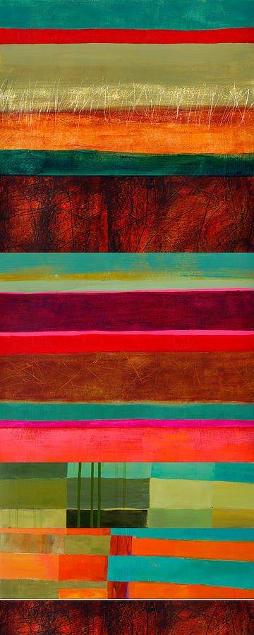 Color Painting - Stripe Assemblage 1 by Jane Davies
