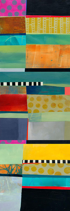 Color Painting - Stripe Assemblage 2 by Jane Davies