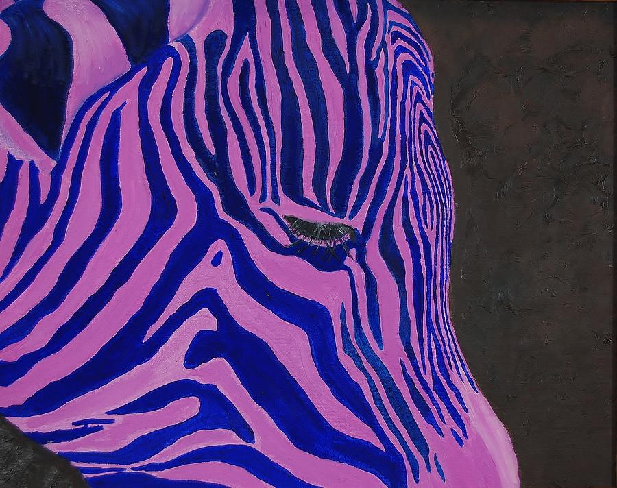 Zebra Painting - Stripes by Charla Van Vlack