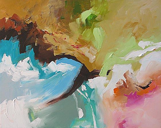 Original Painting - Stroke Of Genius by Linda Monfort
