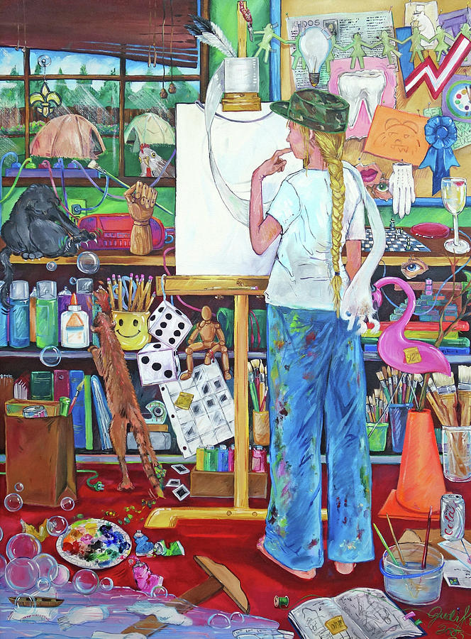 Stroke of Genius Portrait of the Artist at 45 by Judi Krew