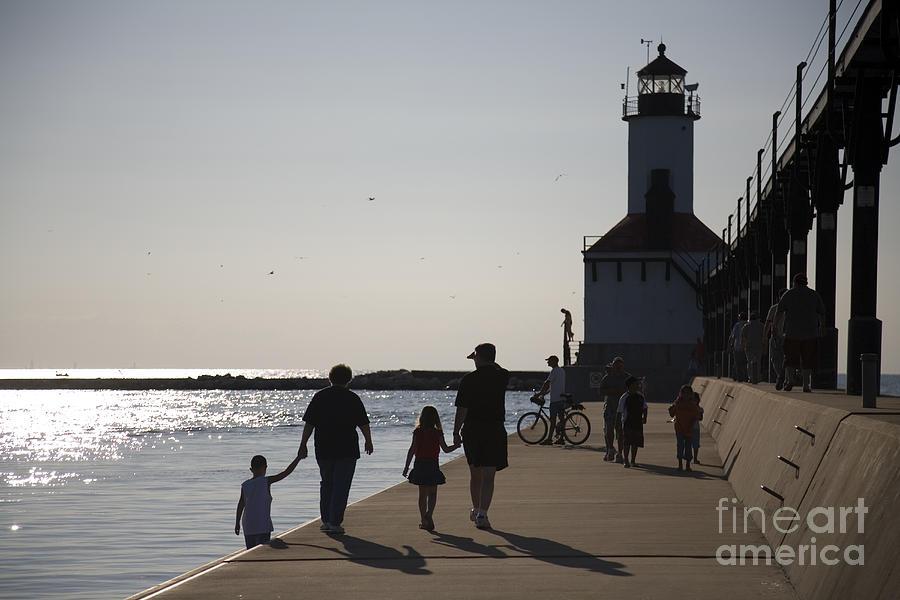 Lighthouse Photograph - Stroll by Jeannie Burleson