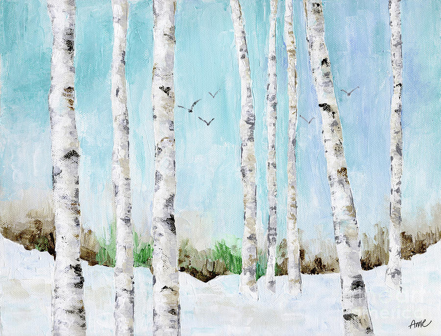Winter Painting - Strolling by Annie Troe