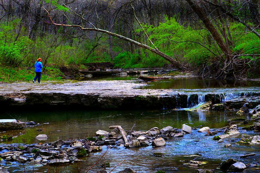 Wallace State Park Photograph - Strolling By The Stream by Kim Blaylock