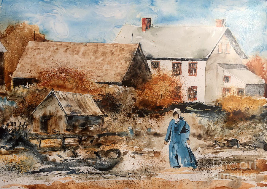 New Brunswick Painting - Strolling by Monte Toon