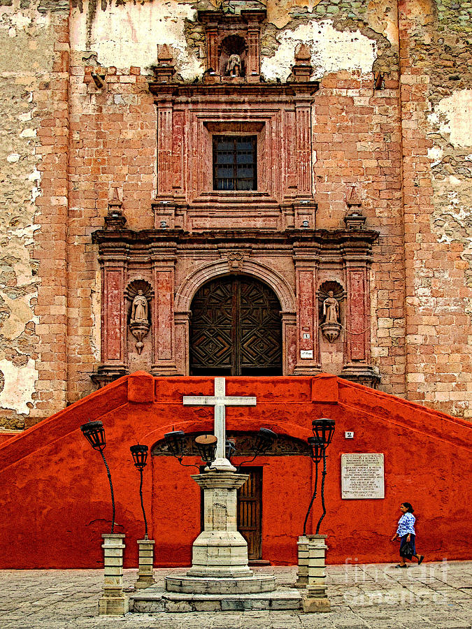 Darian Day Photograph - Strolling The Cathedral Plaza by Mexicolors Art Photography