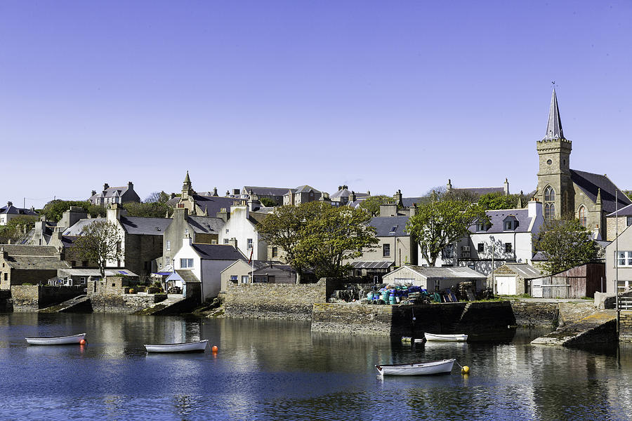 Stromness Photograph - Stromness Harbor by Fran Gallogly