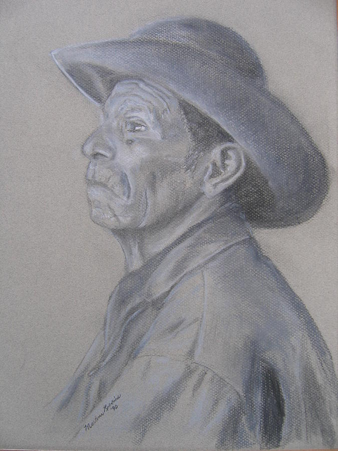 Man Drawing - Strong by Marlene Robbins
