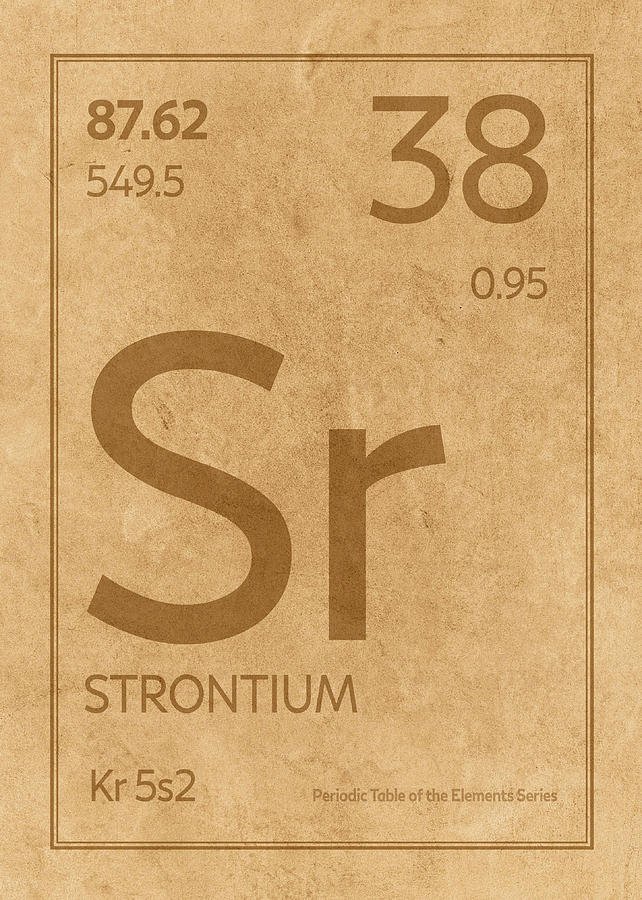 Strontium Element Symbol Periodic Table Series 038 Mixed Media By