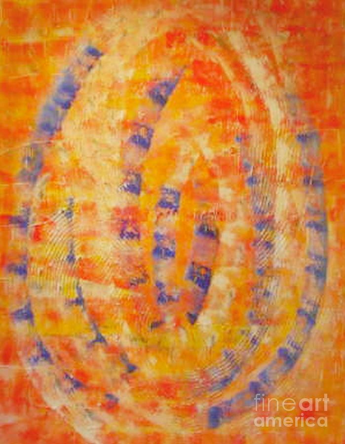Structure painting orange blue by Pilbri