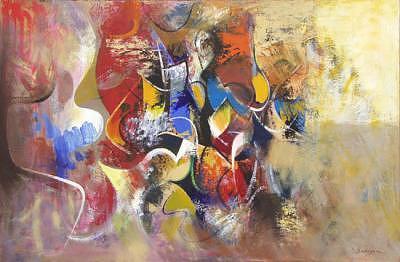 Fantasy Painting - Struggle by Alexander Sadoyan