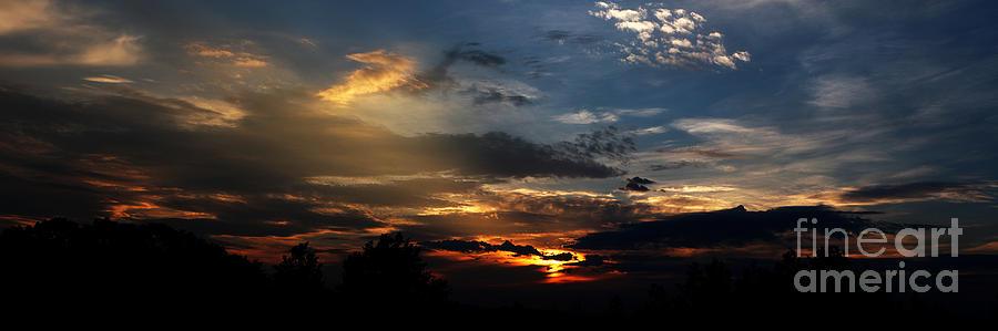 Sun Photograph - Struggling Sun by James F Towne