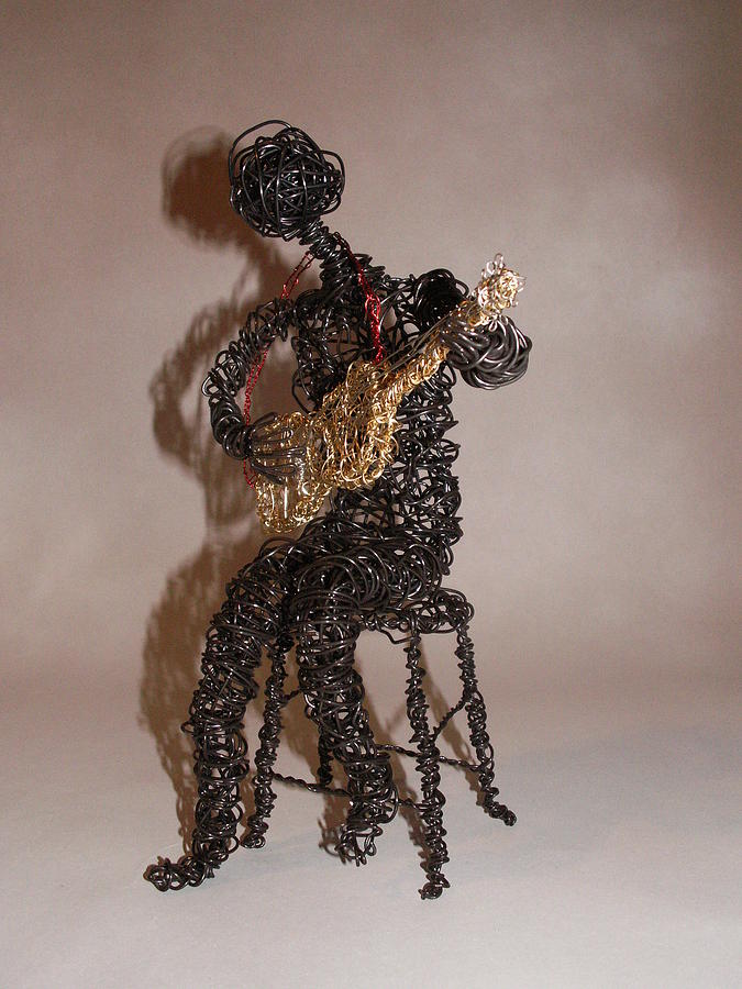 Sculpture Sculpture - Strummin The Blues by Charlene White