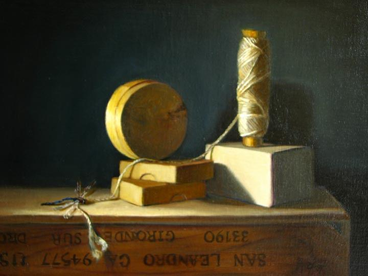 Still Life Painting - Strung Out by Cary  Jurriaans