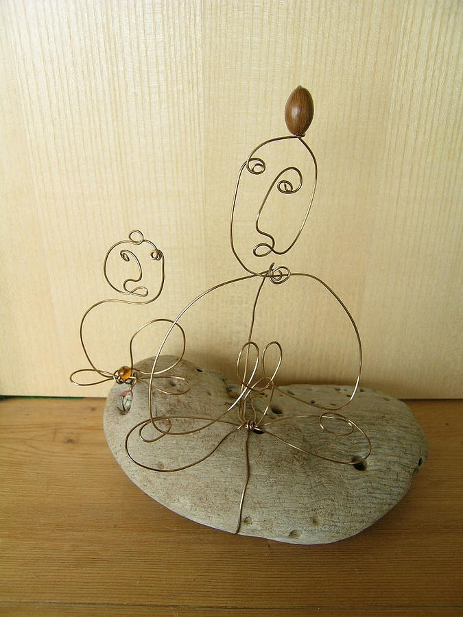 Student And Teacher Sculpture by Live Wire Spirit