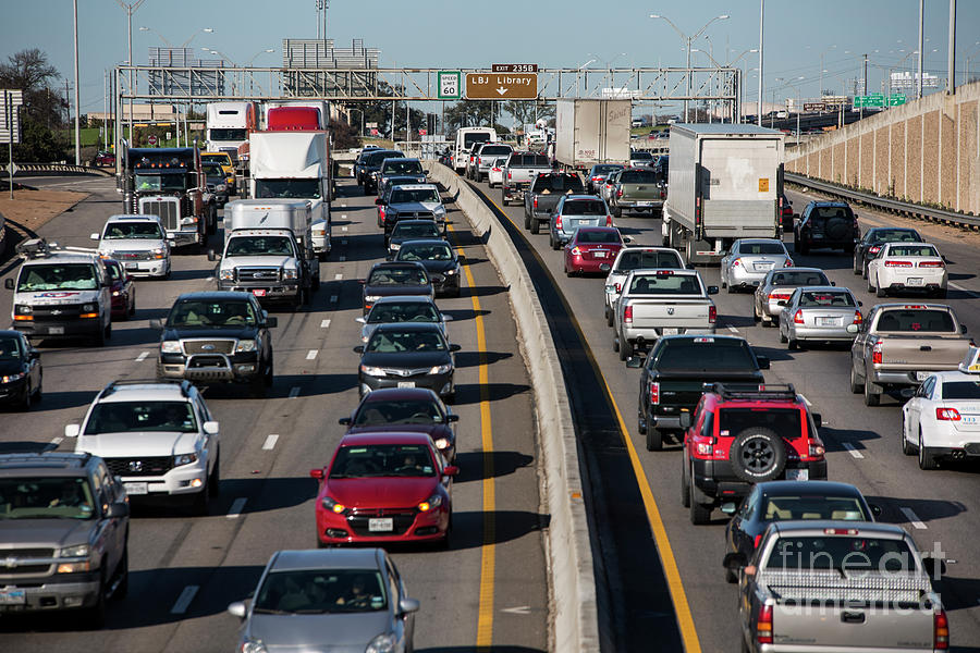 Studies Shows Austin Traffic Congestion Among The Nation's Worst by  Herronstock Prints